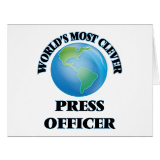 World's Most Clever Press Officer Card