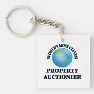 World's Most Clever Property Auctioneer Acrylic Keychain