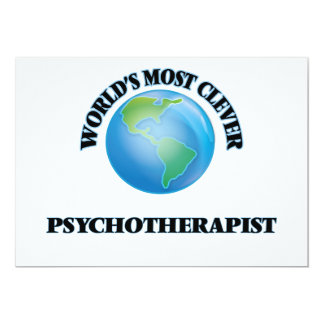 World's Most Clever Psychotherapist 5x7 Paper Invitation Card