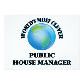"""World's Most Clever Public House Manager 5"""" X 7"""" Invitation Card"""