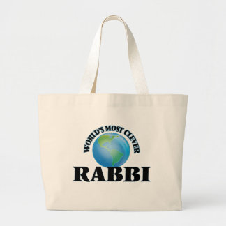 World's Most Clever Rabbi Canvas Bags