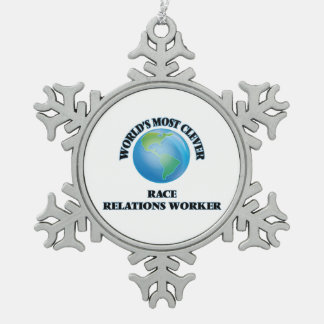 World's Most Clever Race Relations Worker Ornament