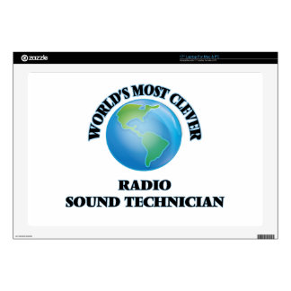"""World's Most Clever Radio Sound Technician 17"""" Laptop Decal"""