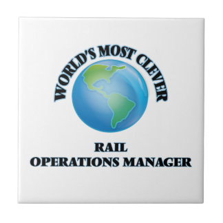 World's Most Clever Rail Operations Manager Ceramic Tiles