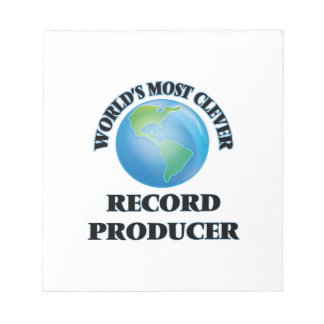 World's Most Clever Record Producer Notepad