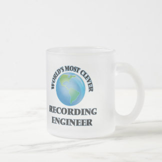 World's Most Clever Recording Engineer 10 Oz Frosted Glass Coffee Mug
