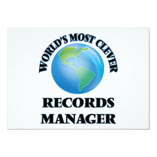 World's Most Clever Records Manager 5x7 Paper Invitation Card