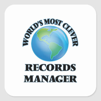 World's Most Clever Records Manager Square Sticker