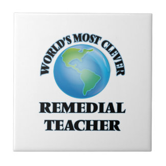 World's Most Clever Remedial Teacher Tiles