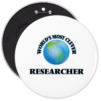 World's Most Clever Researcher Pinback Button
