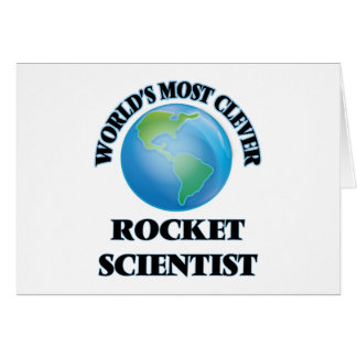 World's Most Clever Rocket Scientist Cards