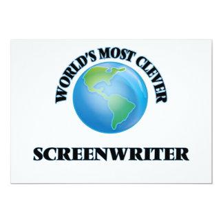 "World's Most Clever Screenwriter 5"" X 7"" Invitation Card"