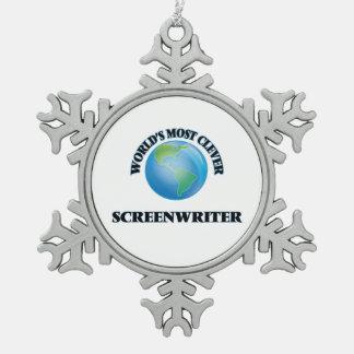 World's Most Clever Screenwriter Ornament