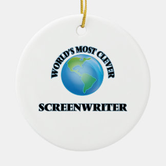 World's Most Clever Screenwriter Ornaments