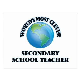 World's Most Clever Secondary School Teacher Postcards