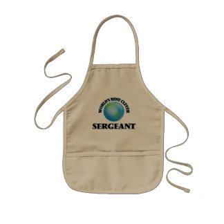 World's Most Clever Sergeant Kids' Apron