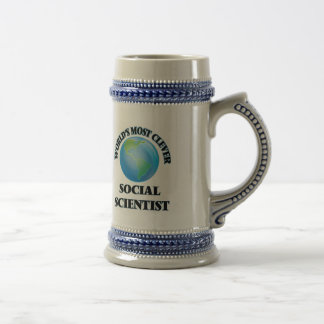 World's Most Clever Social Scientist 18 Oz Beer Stein