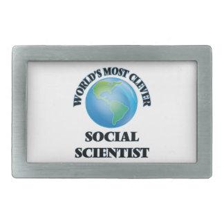 World's Most Clever Social Scientist Rectangular Belt Buckle