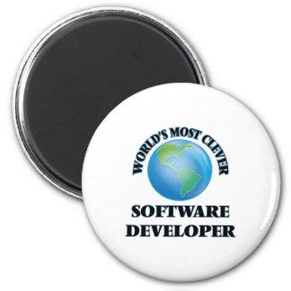 World's Most Clever Software Developer 2 Inch Round Magnet