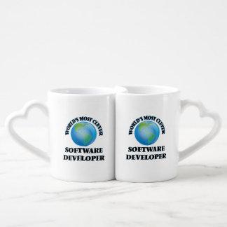 World's Most Clever Software Developer Couples' Coffee Mug Set