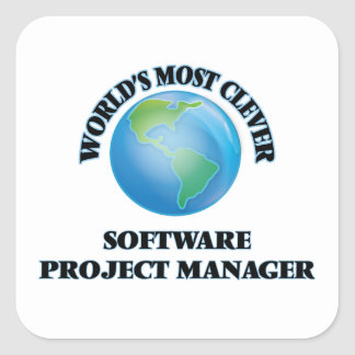 World's Most Clever Software Project Manager Square Sticker