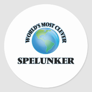 World's Most Clever Spelunker Round Stickers