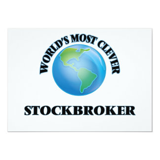 World's Most Clever Stockbroker 5x7 Paper Invitation Card
