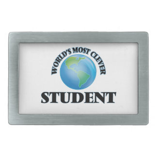 World's Most Clever Student Rectangular Belt Buckle