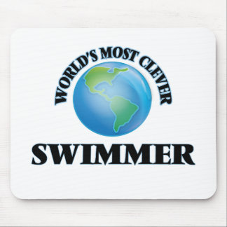 World's Most Clever Swimmer Mouse Pad