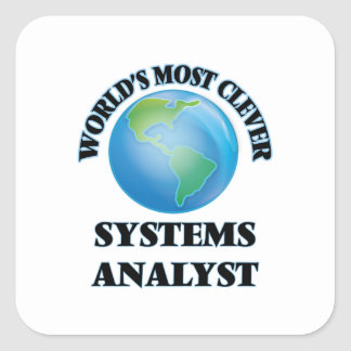 World's Most Clever Systems Analyst Square Sticker