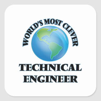 World's Most Clever Technical Engineer Square Stickers
