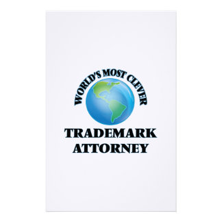 World's Most Clever Trademark Attorney Customized Stationery