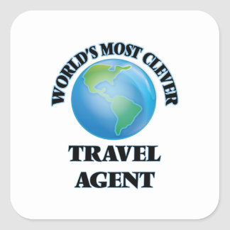 World's Most Clever Travel Agent Square Stickers