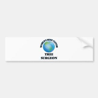 World's Most Clever Tree Surgeon Bumper Sticker