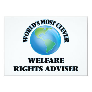 World's Most Clever Welfare Rights Adviser Cards