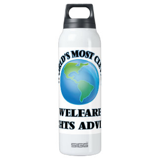 World's Most Clever Welfare Rights Adviser 16 Oz Insulated SIGG Thermos Water Bottle