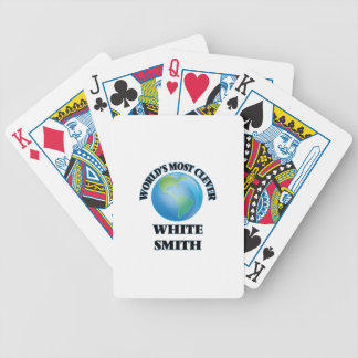 World's Most Clever White Smith Bicycle Playing Cards