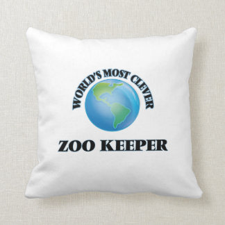 World's Most Clever Zoo Keeper Throw Pillow
