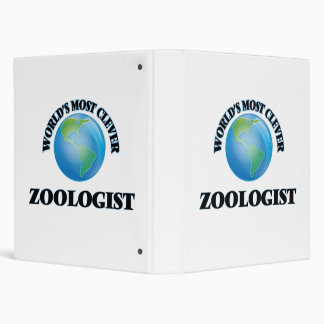 World's Most Clever Zoologist 3 Ring Binders