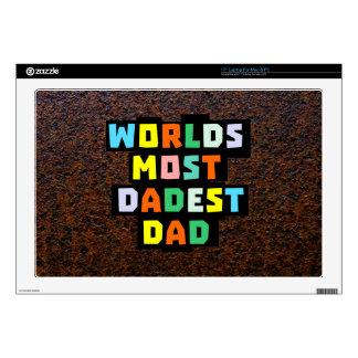 """Worlds Most Dadest Dad 17"""" Laptop Decals"""