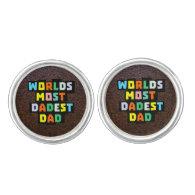 Worlds Most Dadest Dad Cufflinks