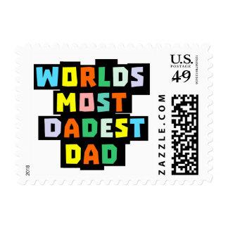 Worlds Most Dadest Dad Postage