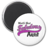 World's Most Fabulous Aunt 2 Inch Round Magnet