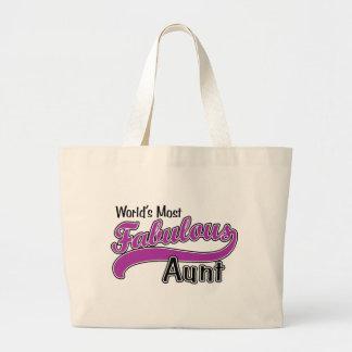 World's Most Fabulous Aunt Jumbo Tote Bag
