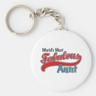 World's Most Fabulous Aunt Basic Round Button Keychain