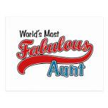 World's Most Fabulous Aunt Postcard