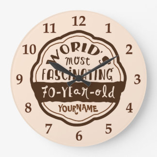 World's Most Fascinating 70-Year-Old Brown Peach Wall Clock