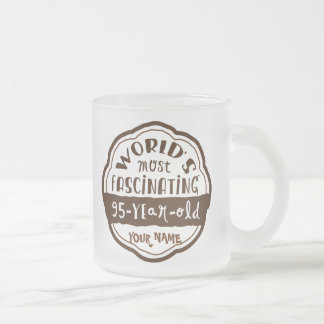 World's Most Fascinating 95-Year-Old Brown Peach Frosted Glass Coffee Mug