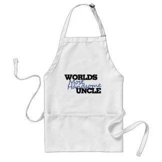 Worlds most handsome Uncle Adult Apron