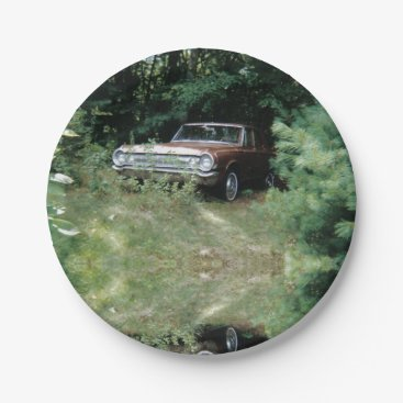 Beach Themed World's Most Haunted Car - The Goldeneagle - 1964 Paper Plate